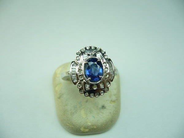 [吉宏精品交流中心]1.25克拉 天然藍寶石 鑽石 戒指(公關生日禮物)