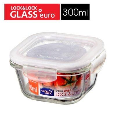 (玫瑰ROSE984019賣場)韓國LOCK樂扣玻璃保鮮盒正方形(LLG205)300ml~烤箱.電鍋蒸.微波.清洗容易