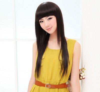 水媚兒假髮8M89♥新款女士假髮 齊瀏海 長直髮♥ 現貨或預購 團購批發