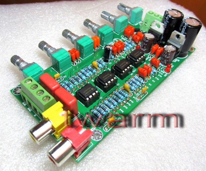 德源科技 r)NE5532 HIFI 2.1前級板 低音炮音調板 第二版(成品)