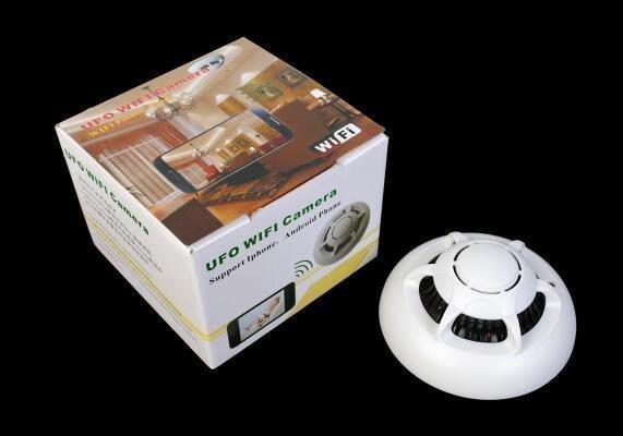1080P無線煙霧感應器 wifi煙感 手機遠端 即時監控 UFO煙感報警器