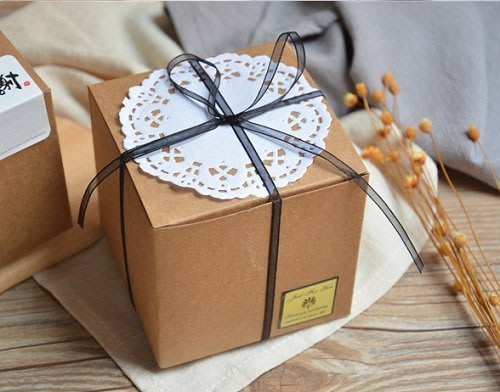 進口牛皮紙盒10*10*10cm 方型牛皮紙盒 方形包裝盒 迷你西點盒 手工皂盒 餅乾月餅盒 禮物盒子