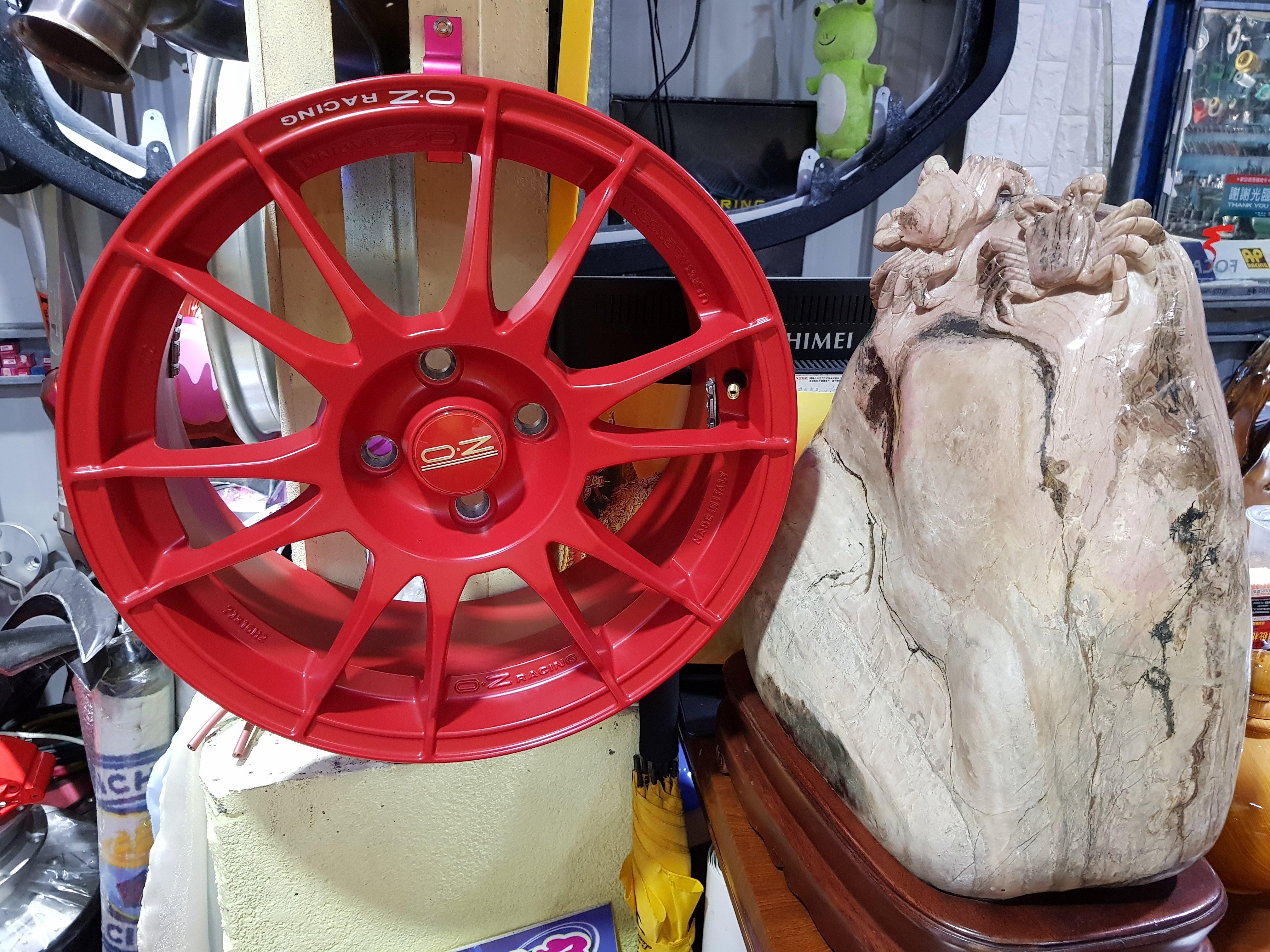 正OZ 鍛造鋁圈 16吋輕量化 OZ鋁圈 4/100 義大利 7J