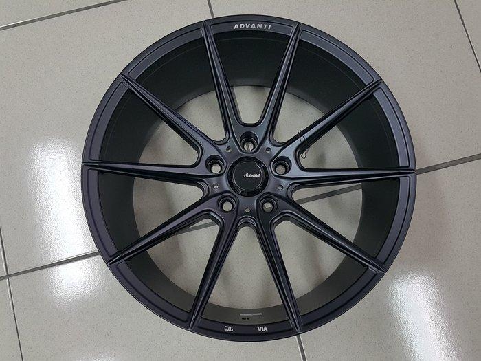 ╭☆輪鋪☆╯全新 MAT16 旋壓輕量化鋁圈 18吋5孔112 平光黑-VW/AUDI/SKODA/BENZ