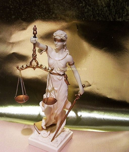 居家藝術~~希臘羅馬神話-正義女神 雕像]32cm仿雪花石雕  司法女神【預訂品】