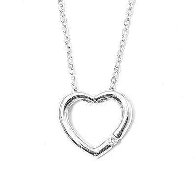 【JHT 金宏總珠寶/GIA鑽石專賣】0.030ct天然鑽石項鍊/材質:純銀925/(D000075)
