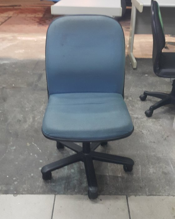 樂居二手家具 全新中古傢俱家電賣場 C0110BJ 藍色布面辦公椅*OA椅 電腦椅 洽談椅 2手各式桌椅出清拍賣