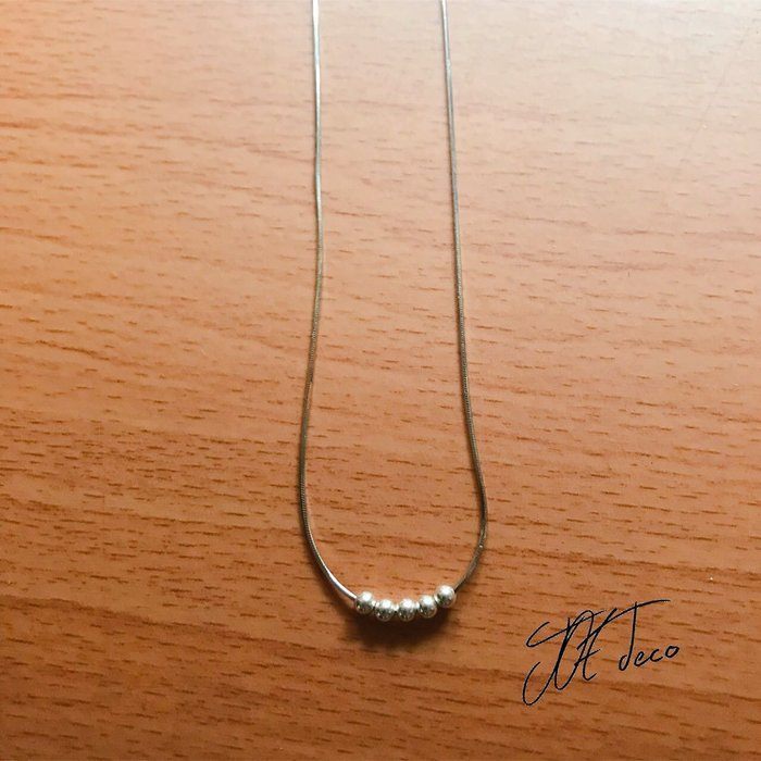JOE deco 簡約純銀珠珠鎖骨鏈