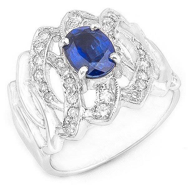 【JHT 金宏總珠寶/GIA鑽石專賣】1.00ct天然藍寶鑽戒/材質:14K(S00013)
