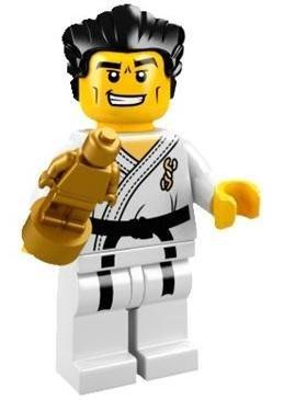 絕版【LEGO 樂高】積木/ Minifigures人偶系列: 2代人偶包抽抽樂 8684 | #14 空手道大師+金人