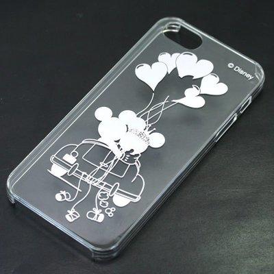 尼德斯Nydus~* 日本正版 Disney 迪士尼 透明系列 手機殼  iphone5 5S 米奇 米妮 愛心 太空銀