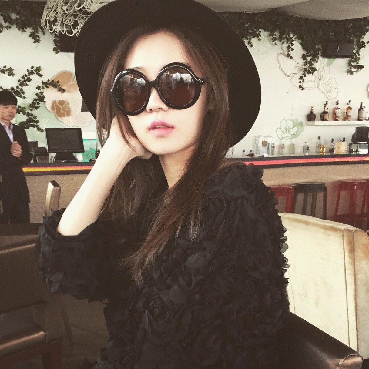 太陽眼鏡 平光眼鏡 韓國眼鏡 方框眼鏡 百搭眼鏡 太陽眼鏡女新款韓國個性復古圓形瘦臉墨鏡圓臉網紅同款墨鏡潮