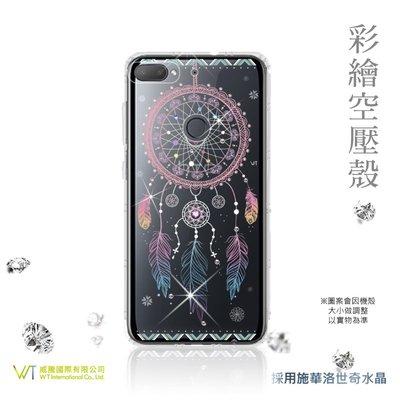【WT 威騰國際】WT® HTC Desire 12 + 施華洛世奇水晶 彩繪空壓殼 軟殼 -【幸運】