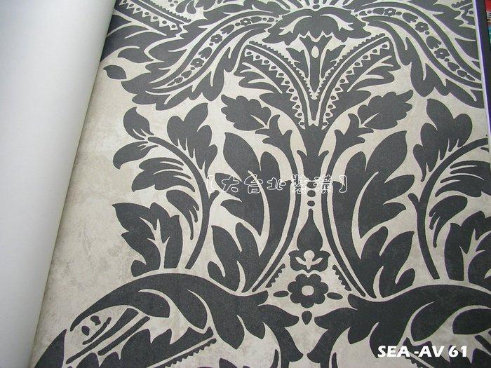 【大台北裝潢】美國Seabrook進口壁紙AV* Newton 復古仿舊大圖騰(5色)