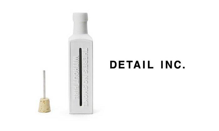 GOODFORIT / 日本居家廠牌DETAIL INC Bottle玩味標語復古陶製線香瓶