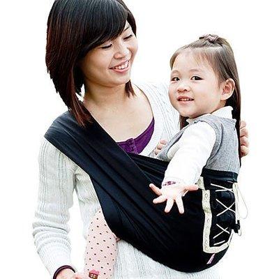 Una馬甲背巾~Vest sling更簡單、更親密、更時尚的無環哺乳揹巾☆╮星燦黑╭☆台灣製好品質