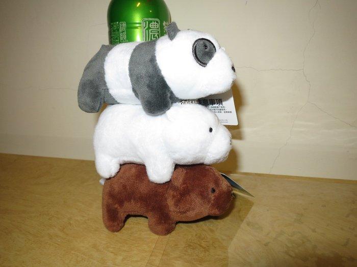 ///可愛娃娃///~3吋正版可愛的熊熊遇見你站姿絨毛娃娃珠鍊吊飾三款~熊熊三賤客---約10公分