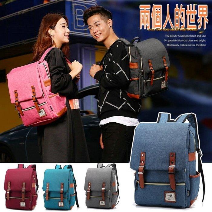 就愛情侶包 日韓學院風雙肩防撥水多 雙肩背包 大學生書包 後背包 電腦包 旅行 休閒包 M
