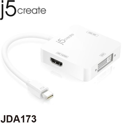 【MR3C】促~6/30 含稅 j5 create JDA173 Mini DP to HDMI+DP+DVI 轉接器