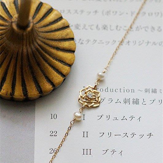 FJ64~法式 輕珠寶~小王子的玫瑰925純銀鍍金鏤空小玫瑰手鍊耳環cdc皮帶長夾包lin