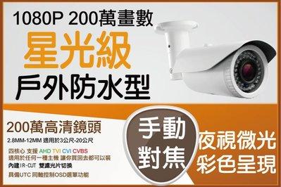 1080P 倒掛型 手動 2.8-12MM 1080P 全鋁機身 紅外線攝影機  星光級 低照度 SONY 291 晶片