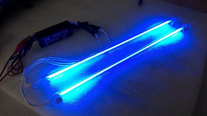 CCFL冷陰極管 10公分 20公分 白光 藍光 紫光 綠光 橘光 12V 燈管~2 防水