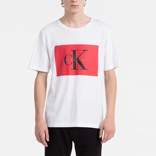 T☆【CK男生館】☆【Calvin Klein LOGO印圖短袖T恤】☆【CK001W9】(S)原價1499 7/16到貨
