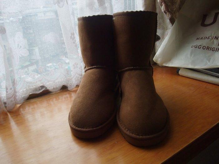 澳洲製 SHEARERS UGG 羊毛靴 中筒靴 栗色 24號 6-7號