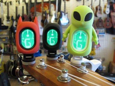 ☆ 唐尼樂器︵☆ SWIFF A71 外星人 A72 蝙蝠俠造型烏克麗麗/木吉他/電吉他/電貝斯/小提琴夾式調音器