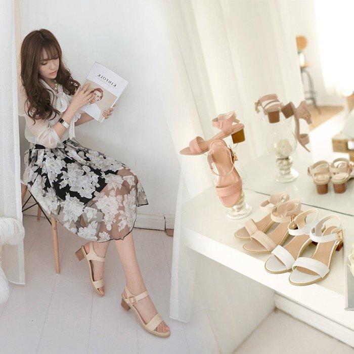 *鞋館Shoes hall*【C20710】甜蜜馬卡龍~韓風質感素面一字涼鞋~3色~(可訂作大尺碼)