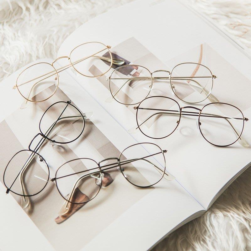 太陽眼鏡 平光眼鏡 韓國眼鏡 方框眼鏡 百搭眼鏡 韓國復古文藝小清新女原宿百搭超輕潮流可愛細框圓形鏡架平光眼鏡