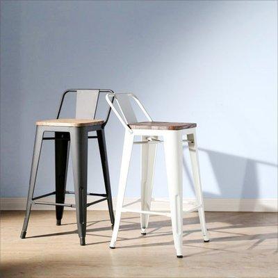 臥室/客廳/電腦/辦公【居家大師】LOFT復古風工業風榆木低背吧台椅 餐椅 椅子 主管椅 I-EB-CH128
