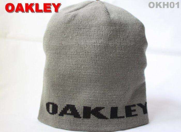 【OAKLEY 】100% 全新正品 秋冬新品 基本款 LOGO 針織 毛帽 - 深灰色 *OKH01*