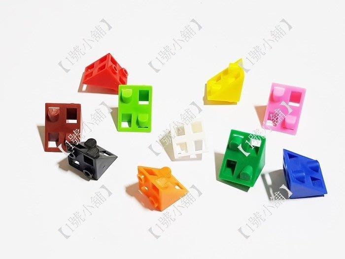 【1號小舖】教具 / 玩具 / 教材 / 數學教具 / 積木/塑膠積木/連接等腰組合/等腰直角三角形連接方塊/50個