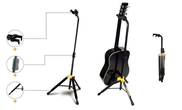 ☆ 唐尼樂器︵☆ Hercules 海克力斯 古典吉他/民謠吉他/電吉他/ Bass 重力自鎖底靠式吉他架