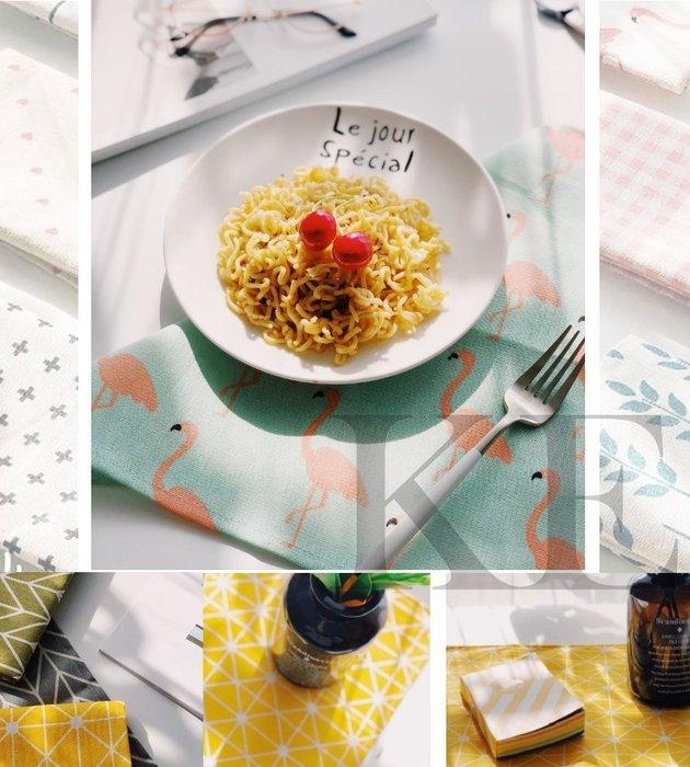 北歐簡約 拍攝食物 棉麻餐巾 餐布 茶巾 餐墊 桌墊 防燙墊 攝影道具 拍攝背景 造景 背景布 美食攝影 拍照道具