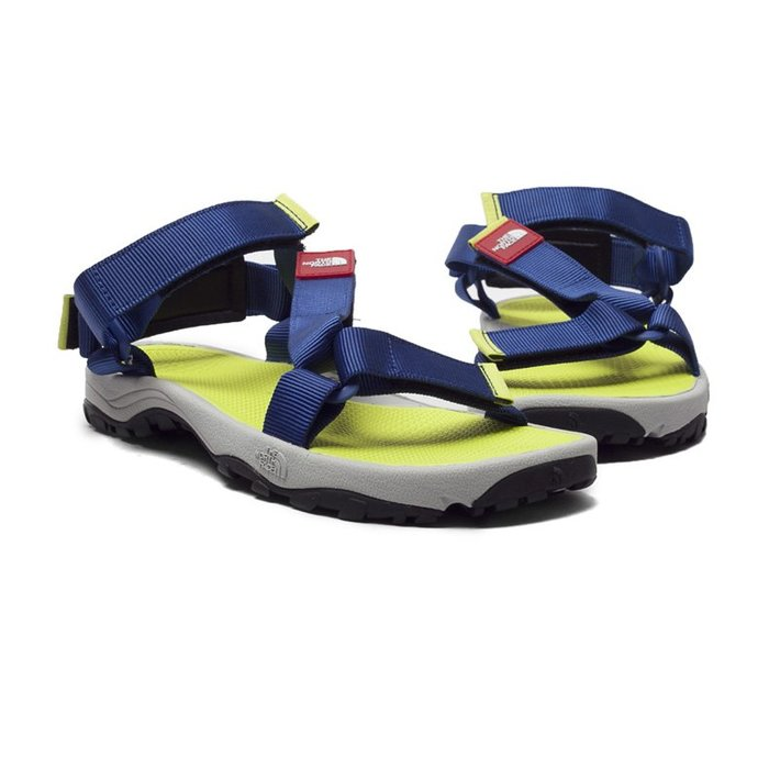 =CodE= THE NORTH FACE LITEWAVE SANDAL 魔鬼氈涼鞋(藍黃)NF00CXS8-GRE男