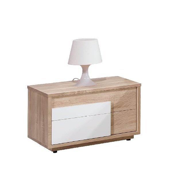 【zi_where】* 多莉絲~1.8尺橡木色全木芯板二抽床邊櫃/床頭櫃$2300