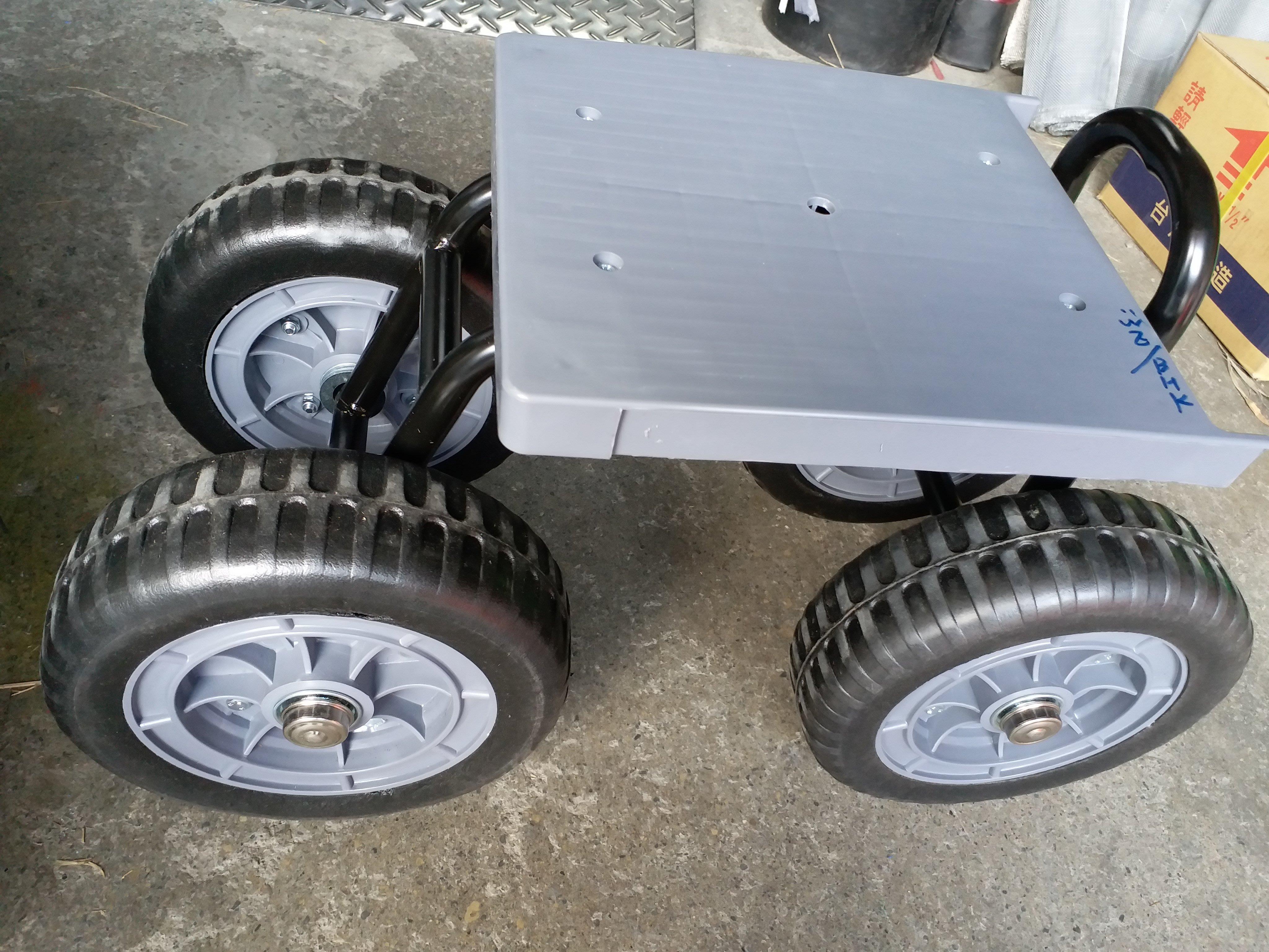 新款蔬果採收座車 輪子加大(9英吋)移動式四輪座車( 固定 )_粗俗俗五金大賣場