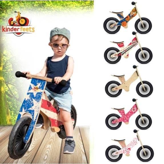 逗寶Kinderfeets-美國木製平衡滑步車/教具車-英雄聯盟系列(六色任選一)