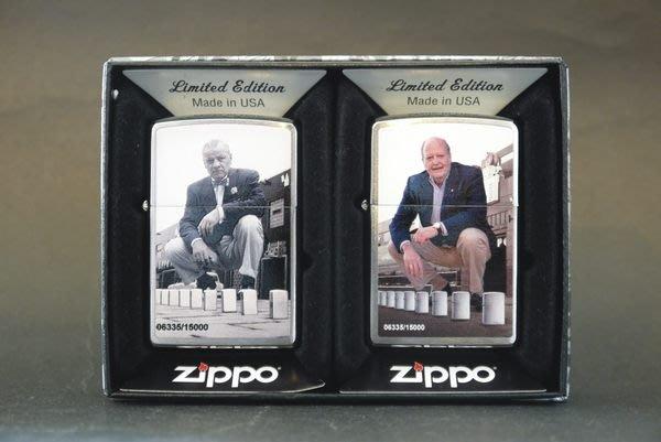 ONE~ 1美系~ZIPPO~2013~創辦人~限定款 ~鍍鉻~打印處理~序號:15000
