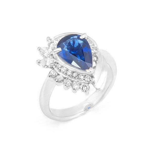 【JHT 金宏總珠寶/GIA鑽石專賣】2.02ct天然藍寶鑽戒/材質:PT900(JB17-29)