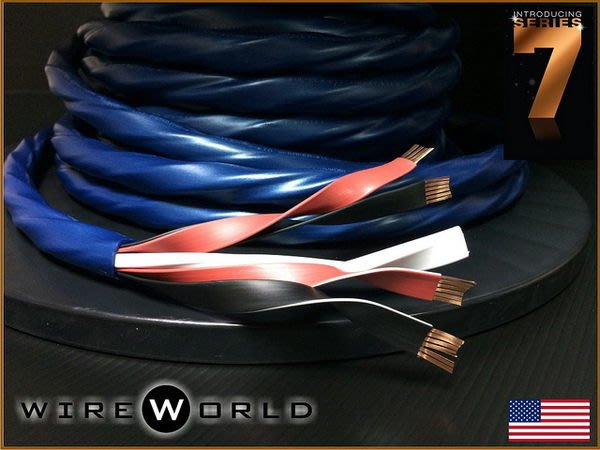 盛昱音響~美國 WireWorld OASIS 7 發燒級喇叭線 1米【獨家 DNA Quad Helix™ 技術】現貨