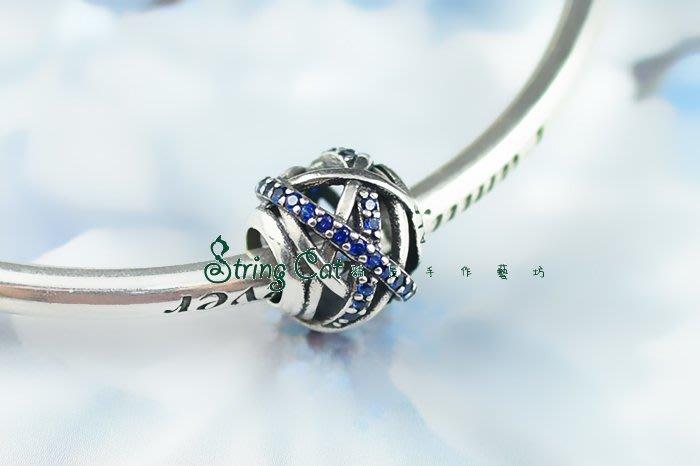 【String Cat】《交錯》925純銀 潘朵拉 串珠串飾 Charms beads 鑲