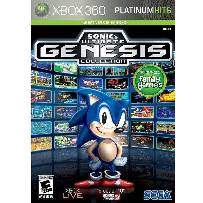 全新未拆 XBOX 360 SEGA經典合輯 49合一 Sonic Genesis-英文白金美版- Mega Drive