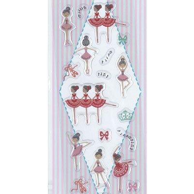 芭蕾小棧生日畢業表演禮物日本進口Shinzi Katoh加藤真治天鵝皇冠舞者蝴蝶結浮貼貼紙
