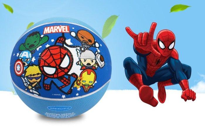 正品 迪士尼 MARVEL復仇者聯盟 蜘蛛人3號 藍球  特價269 附充氣筒球針 網袋