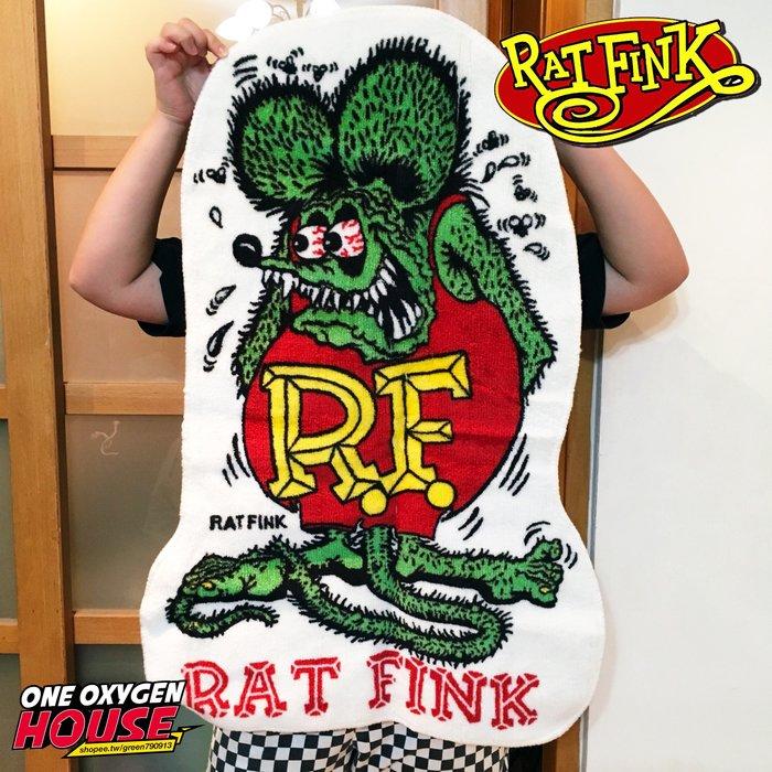日本 Rat Fink 老鼠芬克 RF 老鼠 芬克 地墊 腳踏墊 踏墊 防滑 止滑墊 地毯 墊子 兩款 紅綠 造型