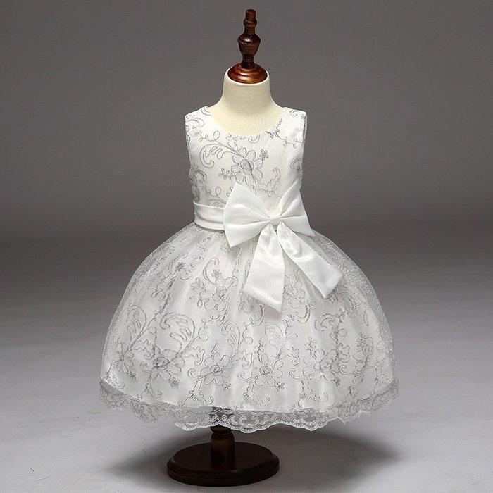 現貨 女童立體玫瑰網紗洋裝禮服18MM010525