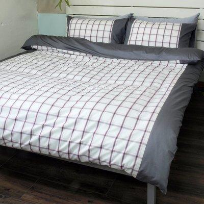 雙人特大6x7床包兩用被套枕套四件組 / 40支100%精梳純棉 / 樂活 / 特價品 -麗塔寢飾-